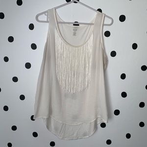 🔥30%OFF🔥a.n.a petite fringe white tank top PL